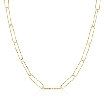 Elongated Rectangle Sparkle Chain