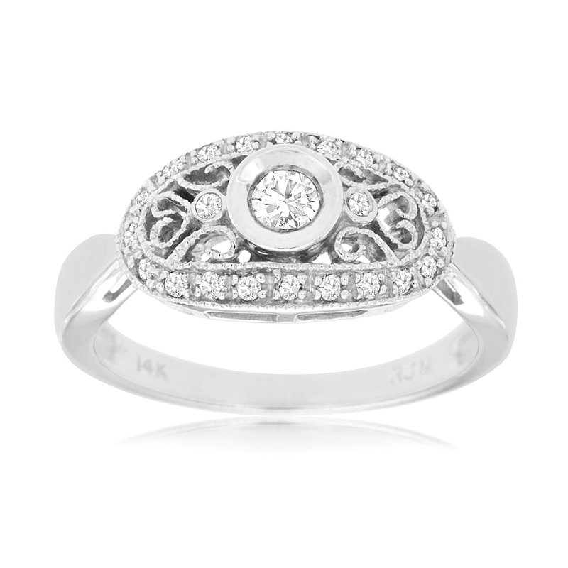Murphy Pitard Signature Collection Antique Inspired Diamond Engagement Ring