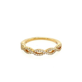 Braided Diamond Anniversary Band