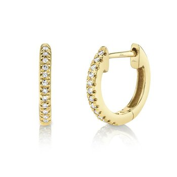 Diamond .07 Carats Huggie Earrings