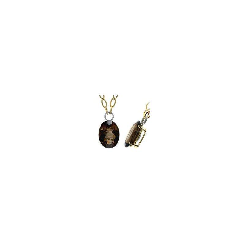 Murphy Pitard Signature Collection Smokey Topaz Fashion Necklace