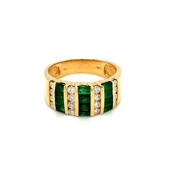 Diamond & Emerald Channel Fashion Band