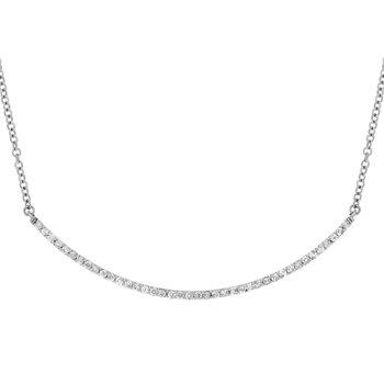 Diamond Smile Curved Bar Necklace