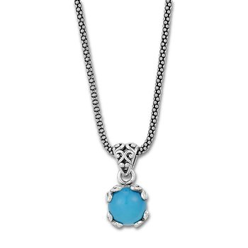 Sleeping Beauty Turquoise Drop Pendant Necklace