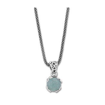 Aquamarine Drop Pendant Necklace