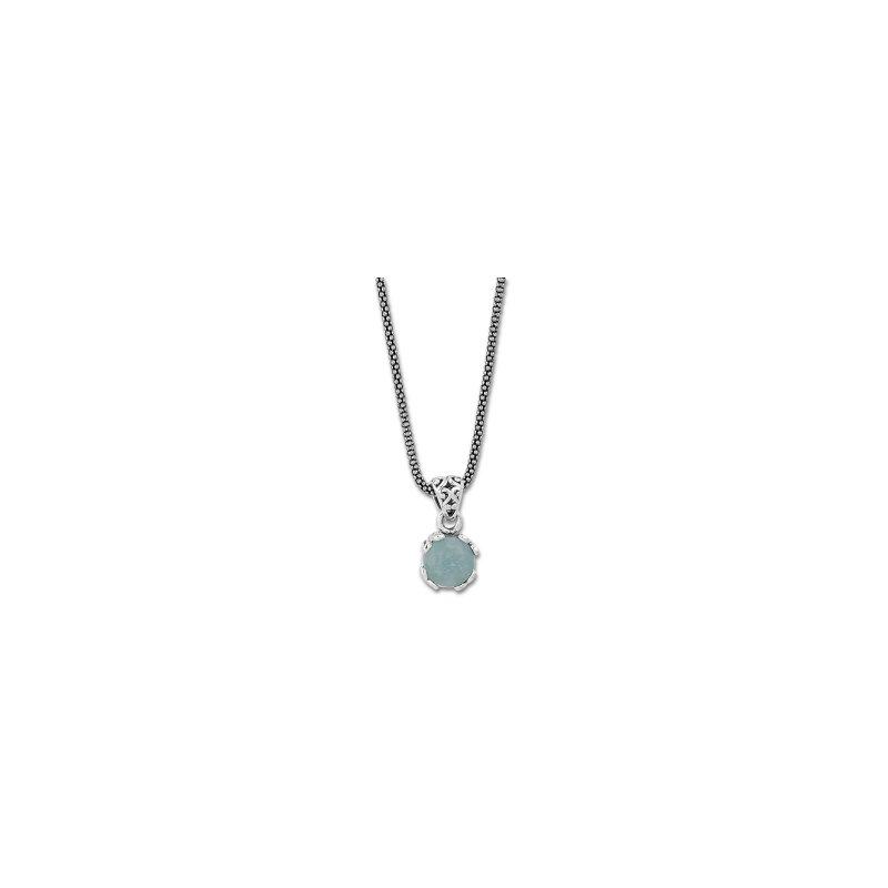 Samuel B. Aquamarine Drop Pendant Necklace