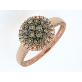 Mocha Diamond Pavé Halo Fashion Ring