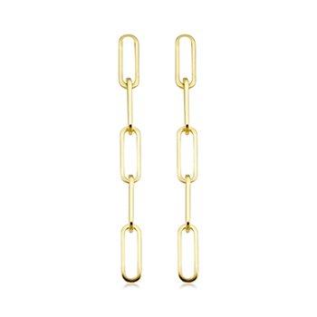 Paperclip Dangle Earrings