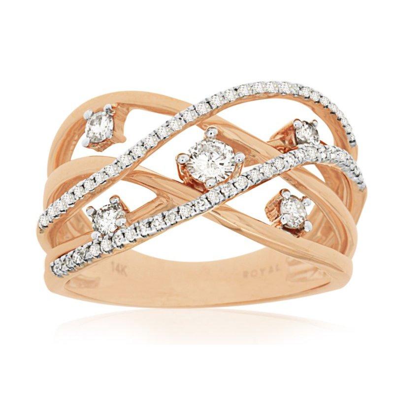 Murphy Pitard Signature Collection Diamond Multi-Row Fashion Band