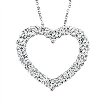 Diamond 1/4 Carats Heart Pendant Necklace
