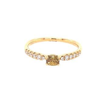 Yellow Diamond Stackable Fashion Ring