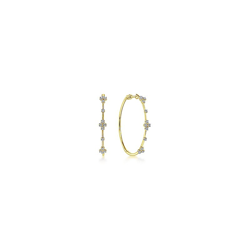 Gabriel & Co. New York Diamond Accented Large Hoop Earrings