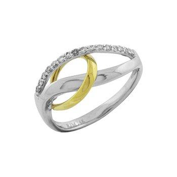 Diamond Two-Toned Fashion Knot Ring