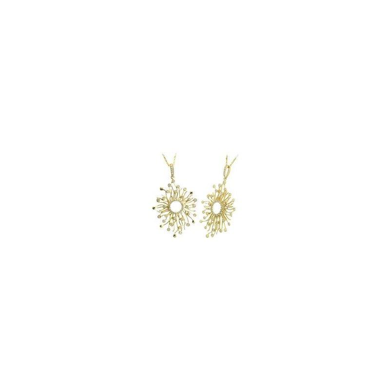 Murphy Pitard Signature Collection Diamond Sun Pendant