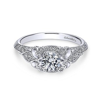 Victorian Inspired Diamond Engagement Ring