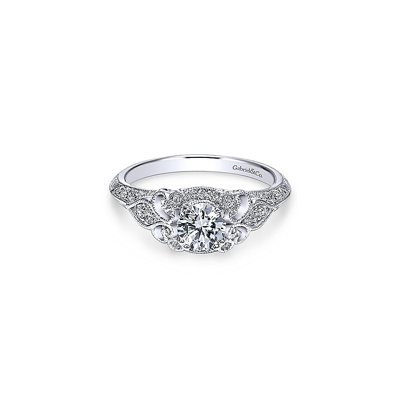 Gabriel & Co. New York Victorian Inspired Diamond Engagement Ring