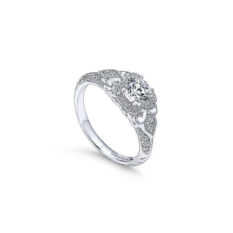 Gabriel & Co. New York Victorian Inspired Diamond Engagement Ring