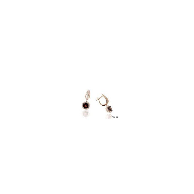Murphy Pitard Signature Collection Garnet & Diamond Halo Dangle Earrings