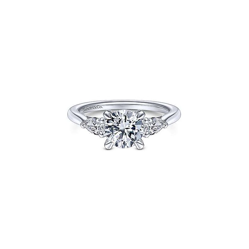 Gabriel & Co. New York Sunday Round 3 Stone Diamond Engagement Ring
