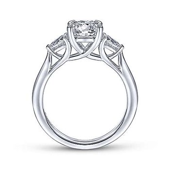 Sunday Round 3 Stone Diamond Engagement Ring