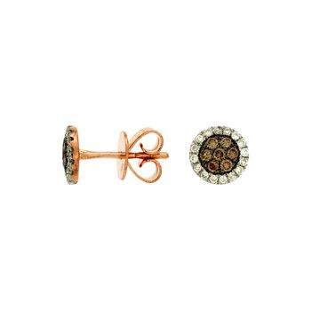 Diamond & Mocha Diamond Stud Earrings