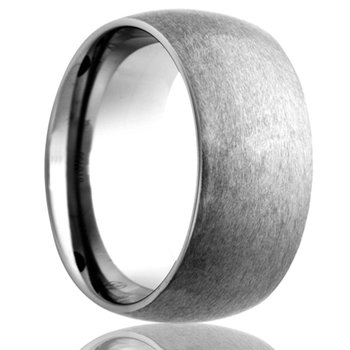 Cobalt Domed 7 Millimeter Wedding Band, Size 12