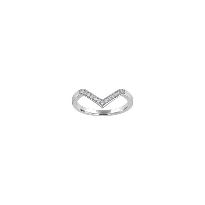 Kaspar and Esh Stackable Diamond Chevron Band