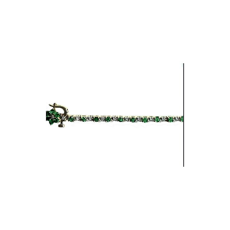 Murphy Pitard Signature Collection Emerald & Diamond Tennis Bracelet