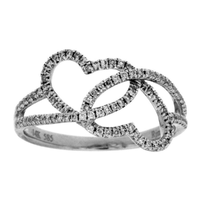Murphy Pitard Signature Collection Diamond Double Heart Infinity Fashion Ring