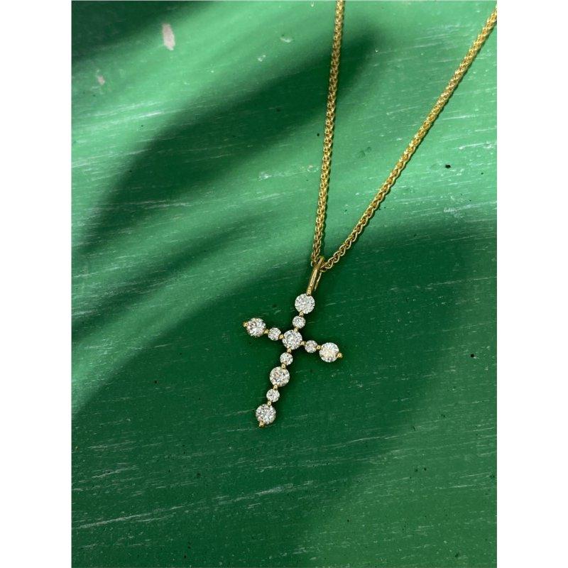 Murphy Pitard Signature Collection Round Diamond Cross Pendant