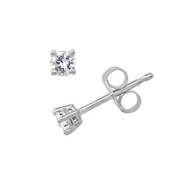 Traditional Set Diamond 1/10 Carats Stud Earrings