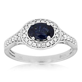 Oval Sapphire Diamond Ring