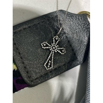 Diamond 1/2 Carats Celtic Inspired Cross Pendant