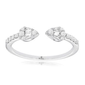 Open Arrow Stackable Diamond Ring