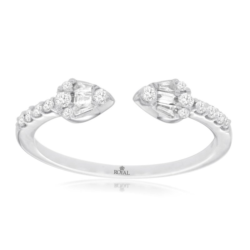 Murphy Pitard Signature Collection Open Arrow Stackable Diamond Ring