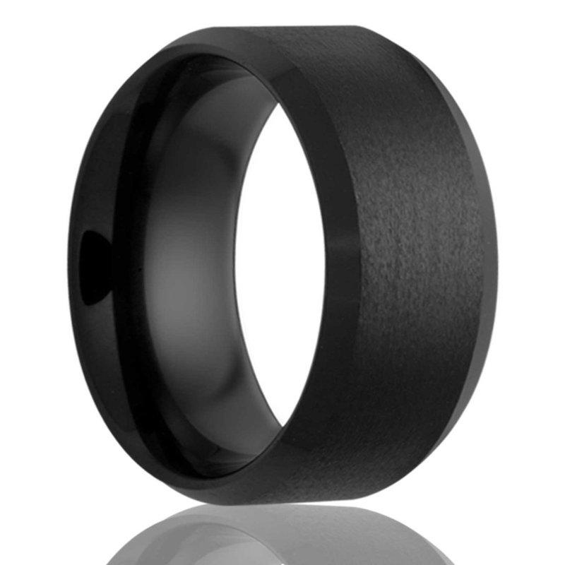 Murphy Pitard Signature Collection Men's Black Diamond Ceramic Wedding Band, Size 9.5