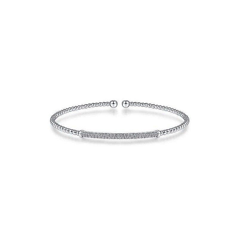 Gabriel & Co. New York Split Cuff Diamond Bracelet