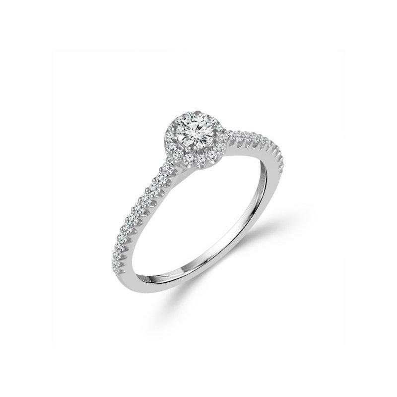 Murphy Pitard Signature Collection Round Halo Diamond Engagement Ring