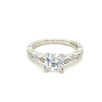 Diamond Engagement Ring Milgrain Accented