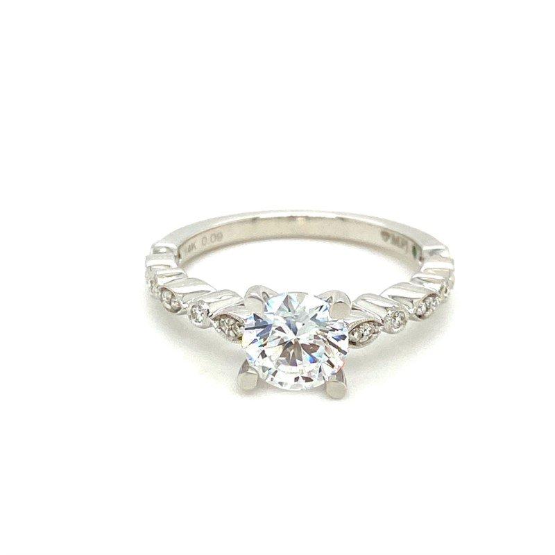 Murphy Pitard Signature Collection Diamond Engagement Ring Milgrain Accented