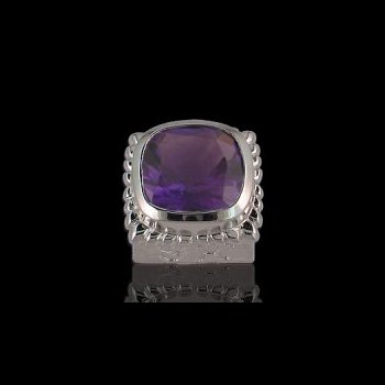 Caerleon Square Faceted Amethyst Bezel