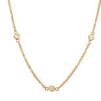 Diamond-by-the-Yard 1/2 Carat Station Necklace