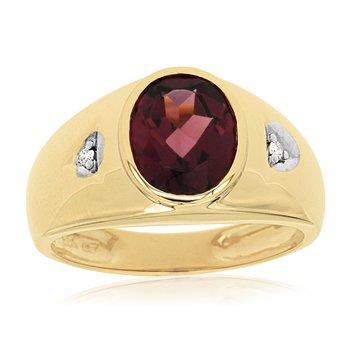 Diamond & Rhodolite Ring