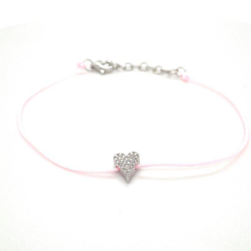 Shy Creation Diamond Pavé Heart Bracelet