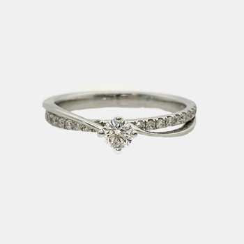 Diamond Pear Cluster Ring