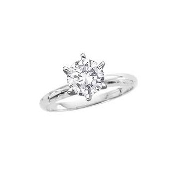 1 1/2 Carat Diamond Solitaire Engagement Ring