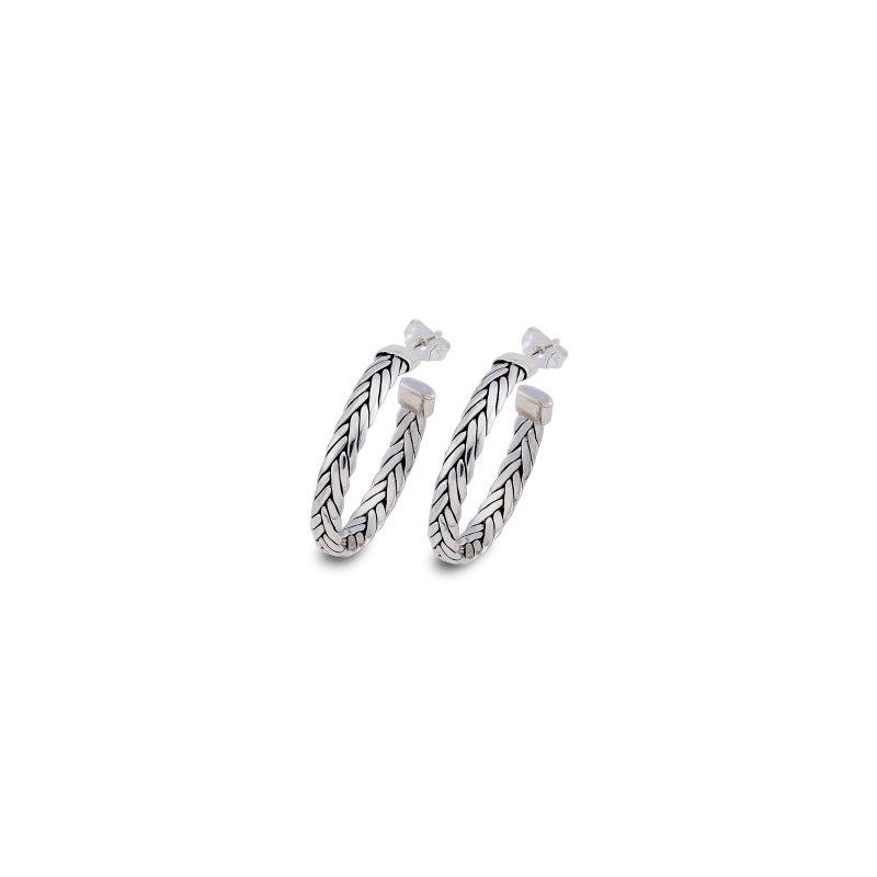 Samuel B. Medium Woven Hoop Earrings