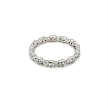 Diamond & Milgrain Eternity Band