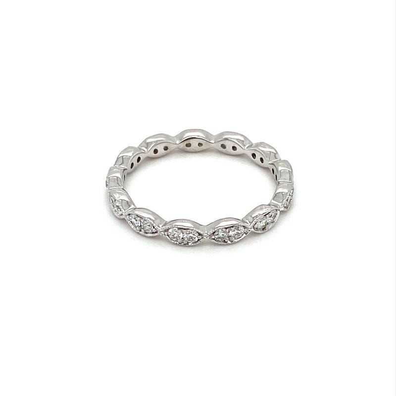 Murphy Pitard Signature Collection Diamond & Milgrain Eternity Band