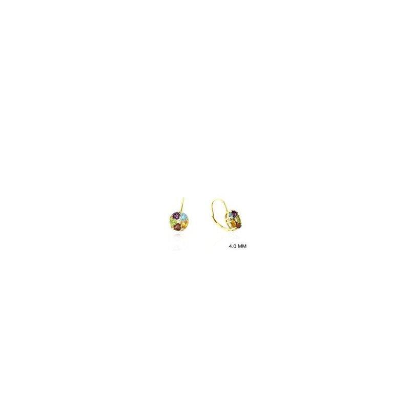 Murphy Pitard Signature Collection Diamond Accented Multi Gemstone Drop Earrings